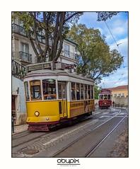 Tram 28 thru the city (obypix) Tags: portugal lisbon lisboa europe smartphone pixel pixel3a transportation train tram