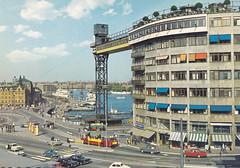 Postkarte / Schweden (micky the pixel) Tags: postkarte postcard ephemera sverige schweden sweden stockholm architektur gebäude building skeppsbron katarinahissen katarinaelevator gamlastan