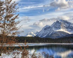 Lower Waterfowl Lake with Reflections of Canadian Rocky Mountains (PhotosToArtByMike) Tags: waterfowllakes banffnationalpark lowerwaterfowllakes canadianrockies icefieldsparkway rockymountains banff albertacanada mountain mountains alberta saskatchewanrivercrossing