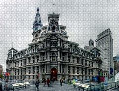 Panorama 2759: Dilworth Park Jigsaw Puzzle (bruhinb) Tags: 15thstreet centercityphiladelphia dilworthpark hdr jigsaw marketstreet pa panorama pennsquare philadelphia philadelphiacityhall secondempirearchitecture usa