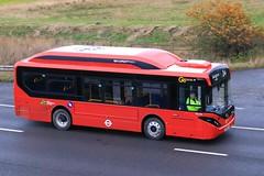 Go Ahead-London SEe104 LF69 UZG 5th December 2019 M18 Thorne (2) (asdofdsa) Tags: goaheadlondon londonbus londontransport enviro200ev redbus red motorway m18 thorne doncaster islington angel 69plate see104 southyorkshire eastyorkshire