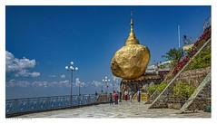 Golden Rock, Myanmar, (Burma). (Richard Murrin Art) Tags: goldenrock myanmar burma richard murrin art sky landscape