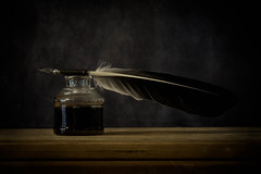 Ink (Explored) (lclower19) Tags: ink 119in2019 pen feather lastone time odc quill 56 explored atsh