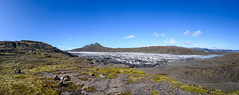 Glacier tongue (Rico the noob) Tags: grass rock z7 landscape nature water mountains outdoor panorama stones clouds iceland published rocks travel 2470mmf28s stone ice sky glacier dof 2019 2470mm mountain