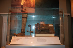 Early Prosthetic Leg (George Neat) Tags: gettysburg american civilwar adams county pa pennsylvania union confederate anv north south unitedstates america army potomac northern virginia history landscape scenic scenery historical battlefield national park monument memorial statue july 1 2 3 1863 george neat patriot portraits usa csa neatroadtrips outside prosthetic leg old historic medical lutheran theological seminary ridge museum dorm display