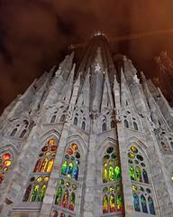 Sagrada Familia (Michelle Barrios) Tags: sagradafamilia night phonecamera nightlights cathedral
