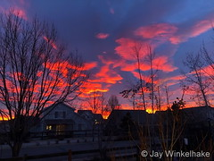 December 12, 2019 - A stunning sunrise starts the day. (Jay Winkelhake)