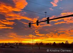 December 12, 2019 - A stunning sunrise starts the day.  (Kristina Garneau)