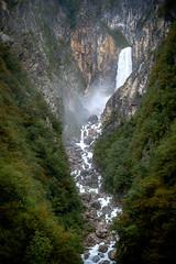 Boka Waterfall (vale0065) Tags: groen green bovec soca valley vallei dal river rivier soča soče žaga zaga slovenia slovenië triglav nationalpark slap forrest woods bos woud mountains bergen boka boca fall waterval highest hoogste 144m