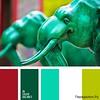 Сочетание зеленого цвета 1