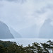 Milford Sound in a foggy day