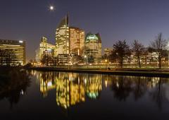 Den Haag skyline 2 (Rens Timmermans) Tags: canon5dmk3 canontse24mmf35l architectuur avondfotografie denhaag reflectie nationalgeographic ngc tiltingshift