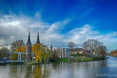 Delft (PIVAMA|photography) Tags: delft city view netherlands holland oostpoort architecture old water schie tree trees building buildings