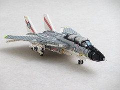 F-14A Tomcat of VF-41 Black Aces (Mad physicist) Tags: lego fighter jet usnavy tomcat f14a blackaces grumman vf41