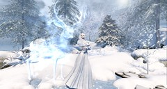 The Ghost Of Christmas Past (tamarind.silverfall) Tags: christmas snow ghostofchristmaspast spirit winter dickens achristmascarol stag