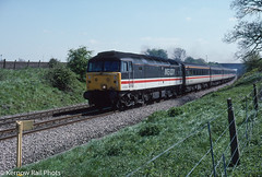 The Inter-City era at Abbotswood Junction (Kernow Rail Phots) Tags: 47822 abbotswood junction sunny class47 478 intercity livery 1044 plymouth manchester piccadilly manchesterpiccadilly abbotswoodjunction wednesday 8th may 1996 1990s 851996 spring gradient post fence trees blue sky mk2 coaches aircons slamdoor train trains railway railways railroad passengertrain tracks countryside rural worcestershire br britishrail crosscountry