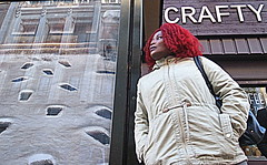 Manchester (1378) (benmet47) Tags: street city urban woman candid
