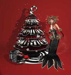LuceMia - Swank Event (2018 SAFAS AWARD WINNER - Favorite Blogger -) Tags: swankevent event irrisistible creations fantasy chrystmass goddess mesh burton tree red sl secondlife fashion blog beauty hud colors models lucemia marketplace