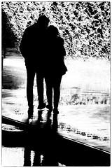 Hugs & Shadows (Andy J Newman) Tags: nikon d810 lisbon portugal girl blackandwhite boy water monochrome couple silhouette fountainlove