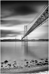 Ponte 25 de Abril bridge - Lisbon (Andy J Newman) Tags: fineart longexposure blackandwhite nikon lisbon lisboa bw bandw bridge ponte25deabril d810 monochrome portugal lisboaregion