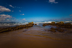 Baskenland0013Sopela (schulzharri) Tags: baskenland basque spanien spain espana bilbao reise travel strand beach meer ocean atlantik sonnenuntergang felsen rock water himmel wasser sky