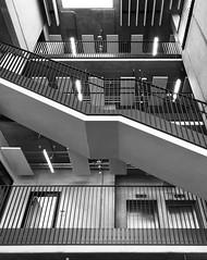 Staircase (frankdorgathen) Tags: iphone8plus monochrome blackandwhite schwarzweiss schwarzweis ruhrgebiet ruhrpott ruhrarea bochum hochschule university architecture architektur gebäude building staircase treppenhaus