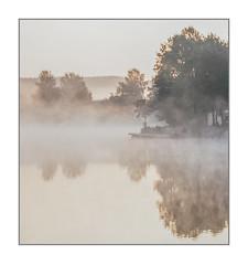 Morning fog at Lake Kell (werner-marx) Tags: analog film meinfilmlab mediumformat agfaisolettei agnar kodakportra400 kellamsee lakekell fog foggy mist highkey