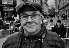 Smiler (Nikonsnapper) Tags: leica q2 s bw street portrait smile cardiff queenstreet