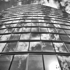 Building abstract #119 (Joseph Pearson Images) Tags: building architecture abstract london moorhouse fosterandpartners square blackandwhite mono bw windows reflections