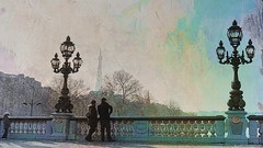 Romantic Paris… ༽  ˳♪⁎˚♫ (Mona Zimba) Tags: bridge alexanderbridge paris france view romantic eiffeltower newart saariysqualitypictures visualart cityartistsfreeart