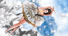 The Sugar Ballerine (meriluu17) Tags: moonamore glamaffair poseidon nutcracker ballerine dance motion ballet crystals crystalize ice snow winter white royal people