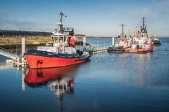 Westbuitenhaven Terneuzen (Dannis van der Heiden) Tags: boat harbour water ship westerschelde westbuitenhaven terneuzen sky clouds reflection tug vessel netherlands tamron2470mmf28 nikond750 d750 union11