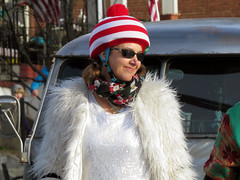 Holiday Attire (Multielvi) Tags: baltimore maryland md city hampden woman candid