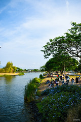 People in Park (angelica.nielo) Tags: trees tree water plant sky nature realpeople people day lake leisure activity cloud park women men scenery freetime picnic spring
