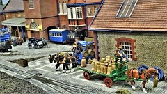 Sewel Brewery (ManOfYorkshire) Tags: sewel brewery scale moel railway train layout narrowgauge ogauge hailsham show 2019 harveys lewes sussex steam loco locomotive shirehorses fullloads deliveries
