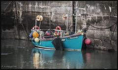 Shamrock Fishing Boat DSC_4331 (dark-dave) Tags: boat fishingboat shamrock scotland scottishborders burnmouth harbour coast coastal reflections