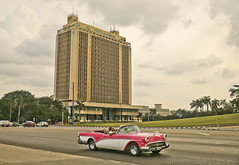 A1066HAVAb (preacher43) Tags: cuba havana revolutionary square autos cars 1954 buick ministry defense building architecture history