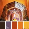 Сочетание оранжевого цвета 1