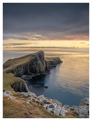 Neist Point Lighthouse, Isle of Skye, Scotland (Michael Long Landscaper) Tags: scotland scottishhighlands scottish seascape scenic lighthouse water neistpoint neist coast isleofskye skye cliff island sunset travel canoneosr canon canon1635mm eos eosr longexposure