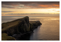 Sunset Neist Point Lighthouse, Isle of Skye, Scotland (Michael Long Landscaper) Tags: scotland scottishhighlands westerenhighlands weather sunset travel canoneosr canon1635mm canonuk eosr seascape neistpoint neist lighthouse isleofskye island longexposure cliffs sea