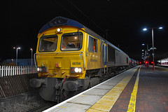 66706 t&t 66753 - Rugby - 07/12/19. (TRphotography04) Tags: gb railfreight gbrf 66706 nene valley 66753 emd roberts road stand rugby 3j01 1050 bescot tmd rhtt