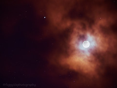 Alien Moon (Foggy Isle Photography) Tags: astrophotography moon stars nightsky atmospheric otherworldly space
