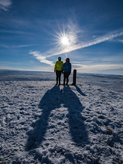 On top of Pule Hill with Standedge in the Background - Marsden (Craig Hannah) Tags: pulehill marsden standedge winter pennine sunshine february 2019 craighannah westriding yorkshire walk treck trail summit snow saddleworth marsdenmoor uk england sun walking ramble stroll view