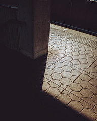 Light and Shadow (John Brighenti) Tags: flickr wmata metro dcmetro rockville maryland twinbrook publictransportation brick ground platform subway railroad train sony alpha a7rii ilce7rm2 tamron tamron2875 zoom lens light shadow commute morning sunrise
