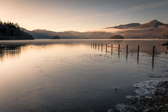 Ice on the Water (alanwsmithphotography) Tags: landscape lakedistrict nature naturephotography nikon nikond750 kasefilters outside outdoors lake derwentwater ice clouds trees
