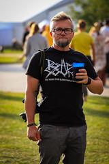 Fast music for slow people (JaaniicB) Tags: canon eos 77d labadaba festival man portrait beer metal heavy music glasses nikon