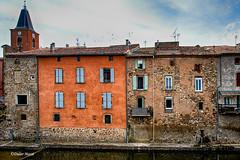 Maisons au bord du canal de l'abbé (didier95) Tags: canaldelabbe stchinian saintchinian herault occitanie architecture maison village
