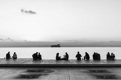 Couples (jimskeet2002) Tags: greece thessaloniki blackandwhite photography sea water ship boat nikon d810 sigma
