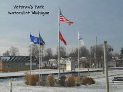 Watervliet Veterans Park (FotoGuy 49057) Tags: veteranspark navy army marines airforce coastguard america flags park watervliet michigan pow