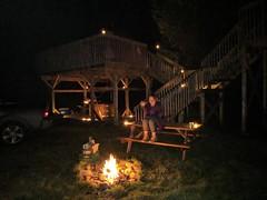 HollyFerguson_AppleDome_Sept2018 (CabotShores) Tags: appledome geodome night campfire